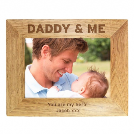 Personalised Daddy & Me 5x7 Wooden Frame